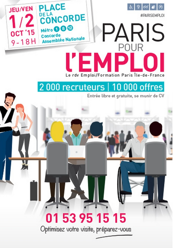 10 000 offres au salon paris pour l 39 emploi arml idf for Salon de l emploi paris