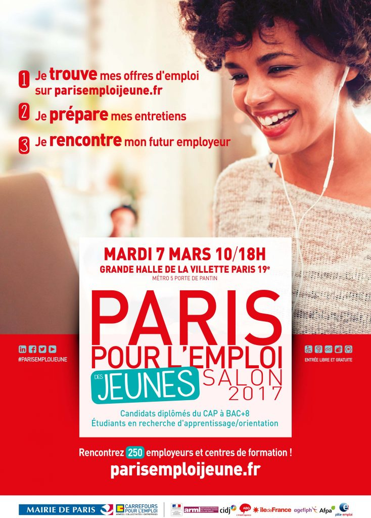 Paris pour l 39 emploi des jeunes 7 mars 2017 arml idf for Salon paris pour l emploi 2017